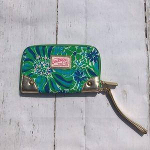 Lily Pulitzer Wristlet NEW Wallet Inside Gold